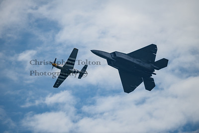 P-51 & F-22 FROM BELOW