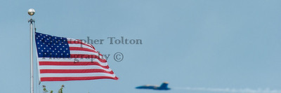 FLAG AND BLUE ANGEL