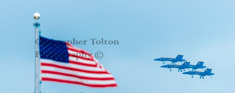 AMERICAN FLAG & BLUE ANGEL DIAMOND