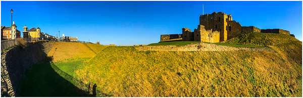A WIDER VIEW, TYNEMOUTH & CASTLE - WITH MY SHADOW AGAIN