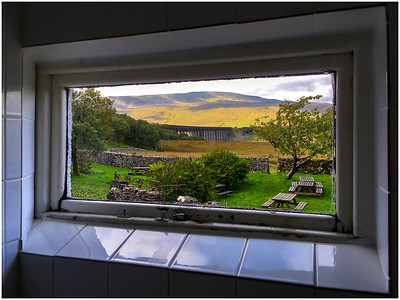 VIEW FROM THE GENTS - STATION HOTEL, RIBBLEHEAD