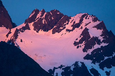 Sunset on Alaska Mountains