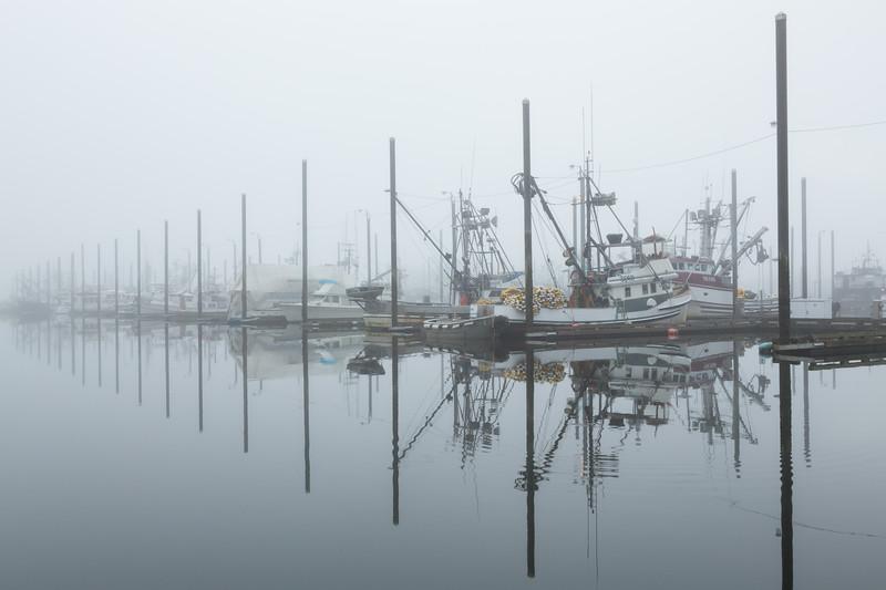 Foggy Morning in Petersburg, Alaska.