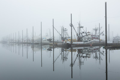 Foggy Morning in Petersburg, Alaska.