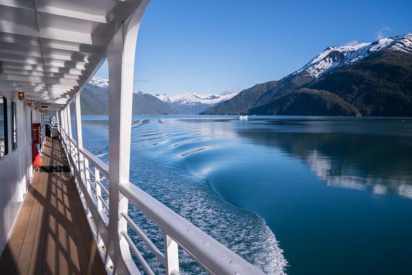 Cruising out of Endicott Arm, Alaska.