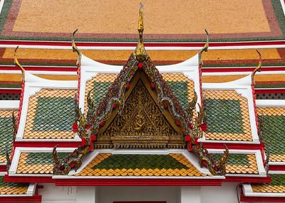 Detail of rooftops, Wat Arun, Bangkok.