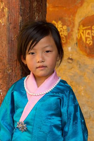 Beautiful young girl, Bhutan.