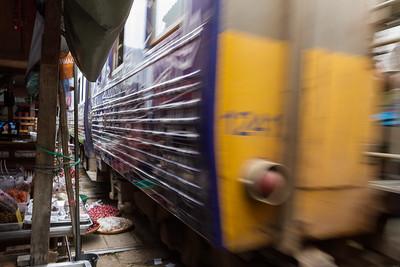A train runs through it