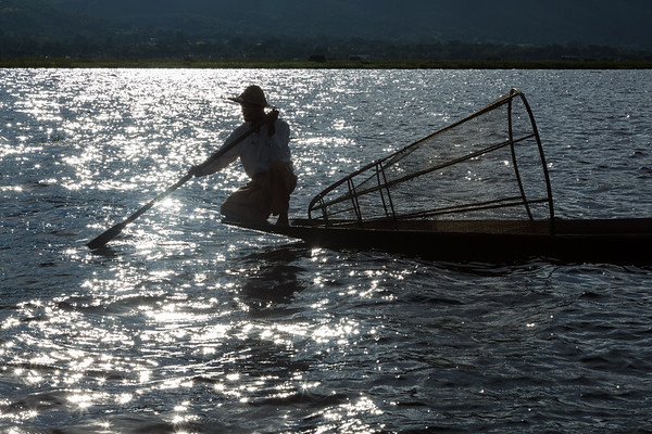 Fisherman Silhouette, Inle Lake
