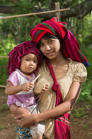 Shan mother and child in Inle Lake region, Myanmar.