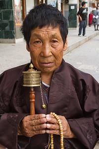 Buddhist Devotee, Thimphu, Bhutan.