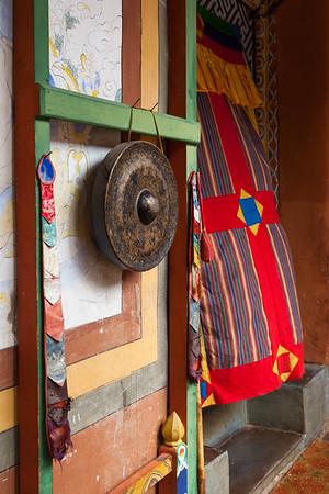 Kharchu Dratsang temple gong, Bhutan.