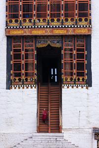 Temple entrance, Tashichho Dzong, Thimphu.