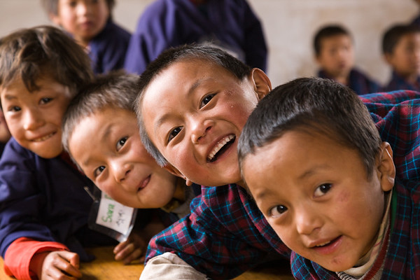 Happy Schoolchildren, Bhutan.