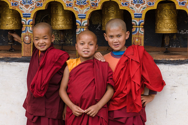 Boy monks, Bhutan.