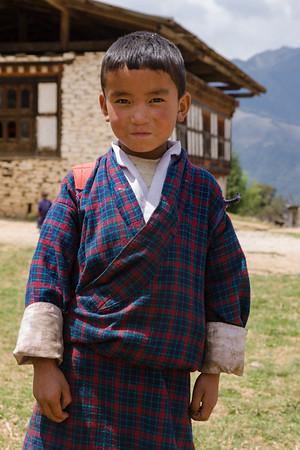 Bhutanese schoolboy.