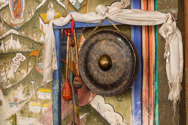 Temple Gong, Trongsa Dzong, Bhutan.