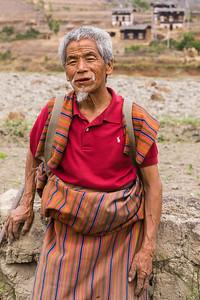 Smiling Bhutanese Man.