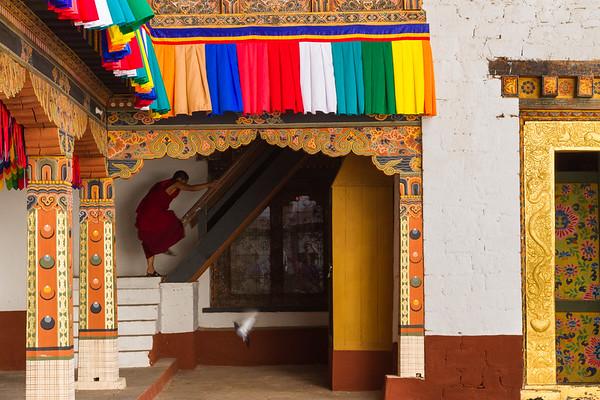 Courtyard inside Pungtang Dechen Photrang Dzong, Bhutan.
