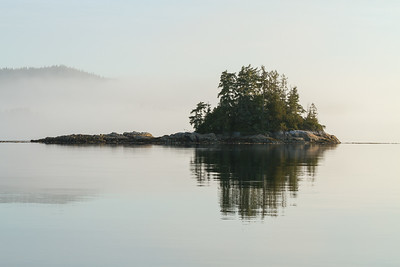 A tranquil morning scene along Johnstone Strait, British Columbia.
