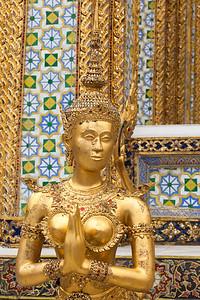 A kinnara statue at Royal Palace, Bangkok.