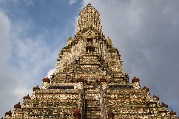 Wat Arun gilded stupa, Bangkok.