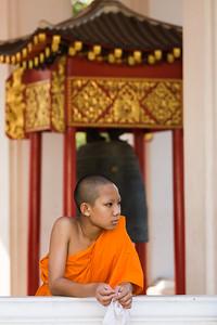 A pensive monk, Bangkok.
