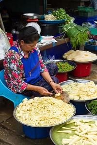 Jicama for sale, Bangkok, Thailand.