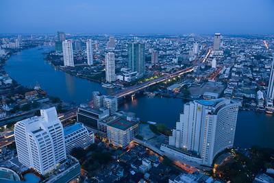 Blue Hour in Bangkok, Thailand.