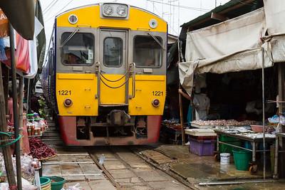 Risky Market train, Thailand.