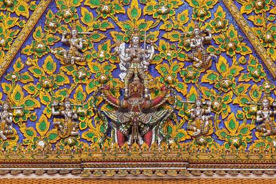 Golden, Gilded Entrance to Wat Phra Kaew, Bangkok.