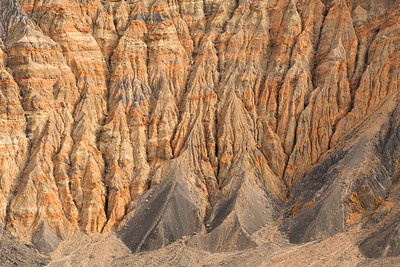 California, Death Valley. A view into the Ubehebe crater showing the eroded walls.