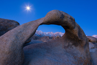 Arch and Moon