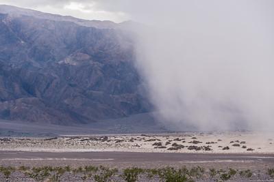 Sand storm over Mesquite Flat Dunes.