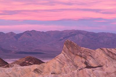 Zabriskie Point at Sunrise, Death Valley.