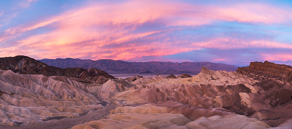 Dawn over Zabriskie Point.