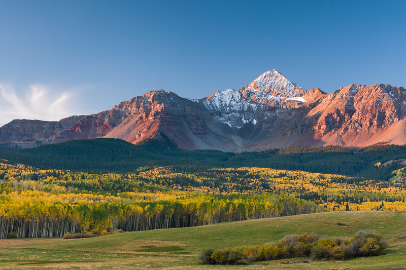 Dawn on Wilson Peak, Colorado.