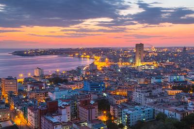 Sunset over Havana.