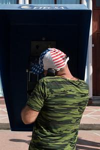 Camo Shirt and Patriotic Hat