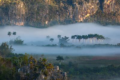 Fog in the valley, Viñales, Cuba.