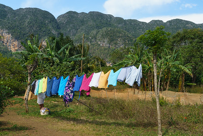 Laundry Day in Countryside