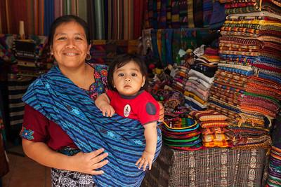 Guatemalan woman and child.