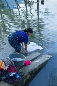 Washing clothes at Lake Atitlán.