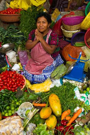 Gracious Guatemalan Produce Seller.