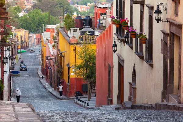 Cobblestone Street, San Miguel de Allende.