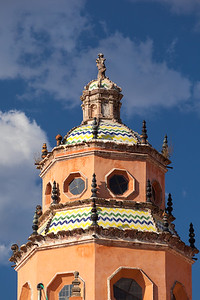 Ornate tower of Templo de San Francisco.