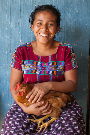 Girl with Chicken, Guatemala