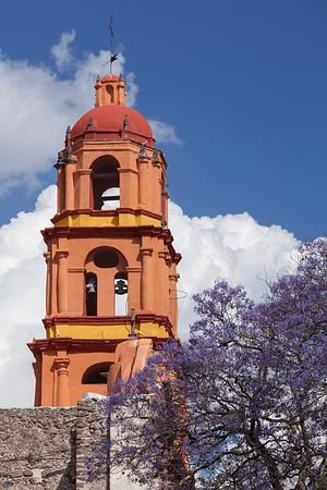 Bell tower of Templo de San Francisco.