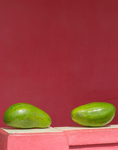 Avocados and Pink Wall