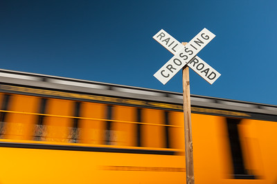 Railroad Crossing and Train